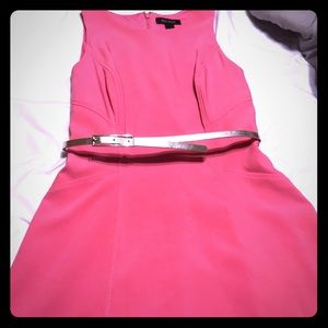 WHBM Belted Pink Dress